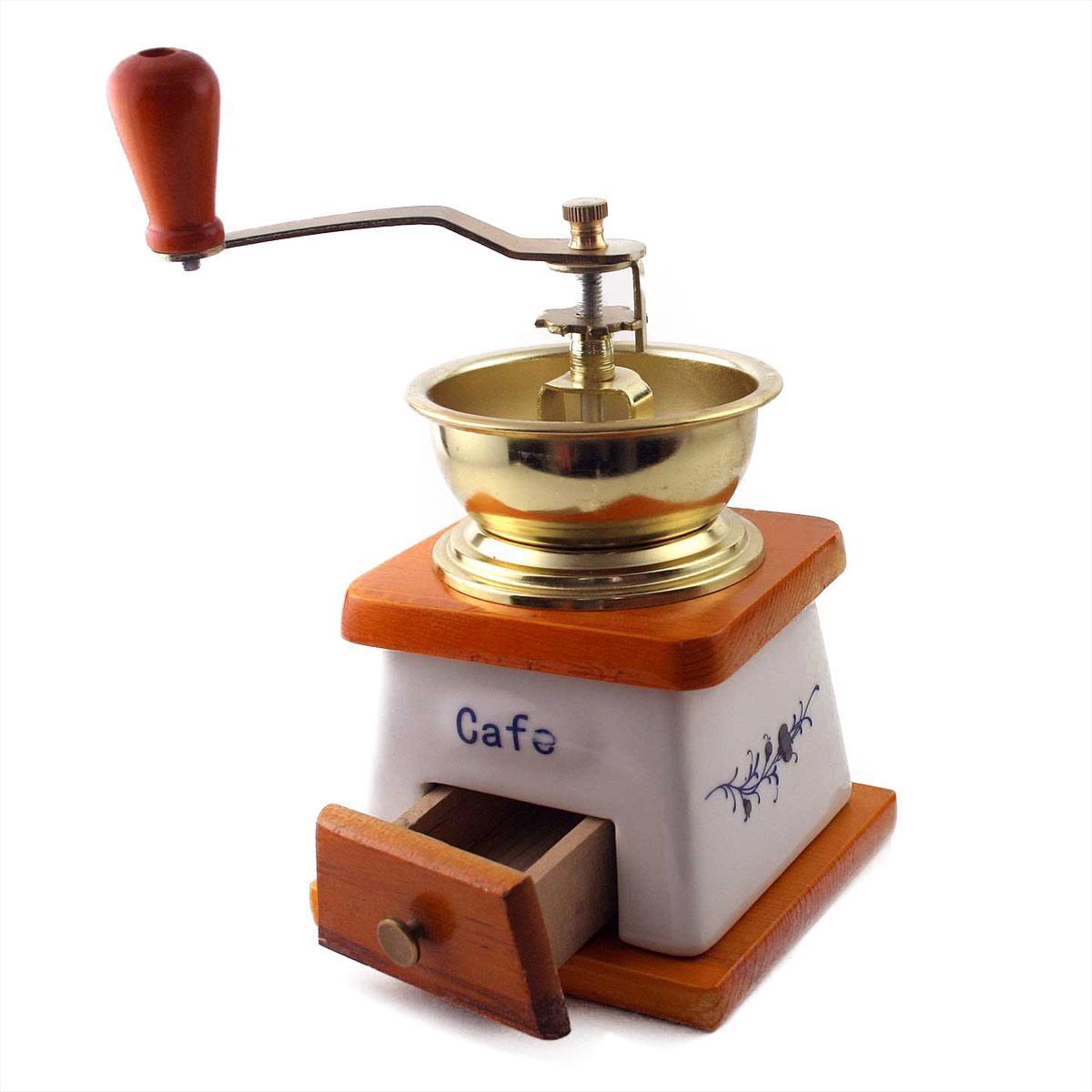 keramik kaffeem hle antik nostalgie retro design kaffee m hle funktioniert ebay. Black Bedroom Furniture Sets. Home Design Ideas