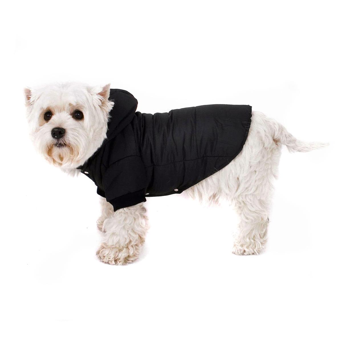 hundemantel hundejacke hundeanorak hundeparka jacke f r hunde mit kapuze schwarz ebay. Black Bedroom Furniture Sets. Home Design Ideas