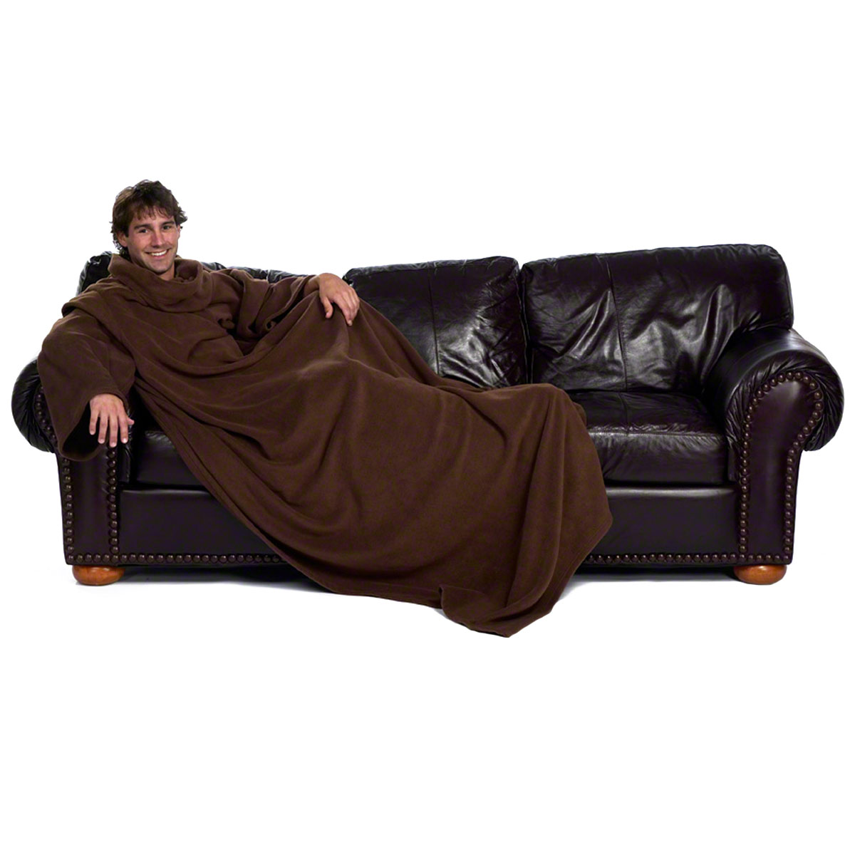 xxl snuggie blanket fleecedecke rmeldecke lounge decke kuscheldecke mit rmeln ebay. Black Bedroom Furniture Sets. Home Design Ideas