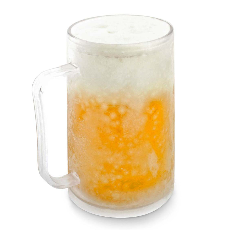 frosty mug k hlbecher bierkrug eiskrug frozen ice becher krug glas 0 4 liter ebay. Black Bedroom Furniture Sets. Home Design Ideas