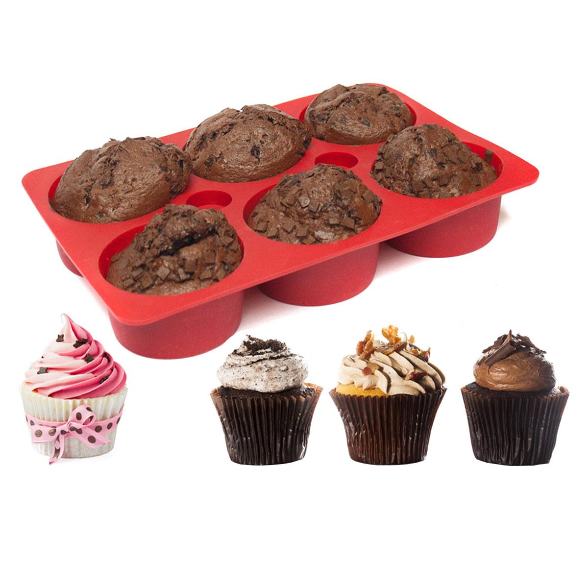 silikonform f r muffins cupcakes mit f llung backform aus silikon muffinform ebay. Black Bedroom Furniture Sets. Home Design Ideas