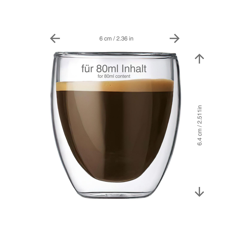 doppelwandige espressotasse espresso tasse tassen aus glas doppelwandig dimono ebay. Black Bedroom Furniture Sets. Home Design Ideas