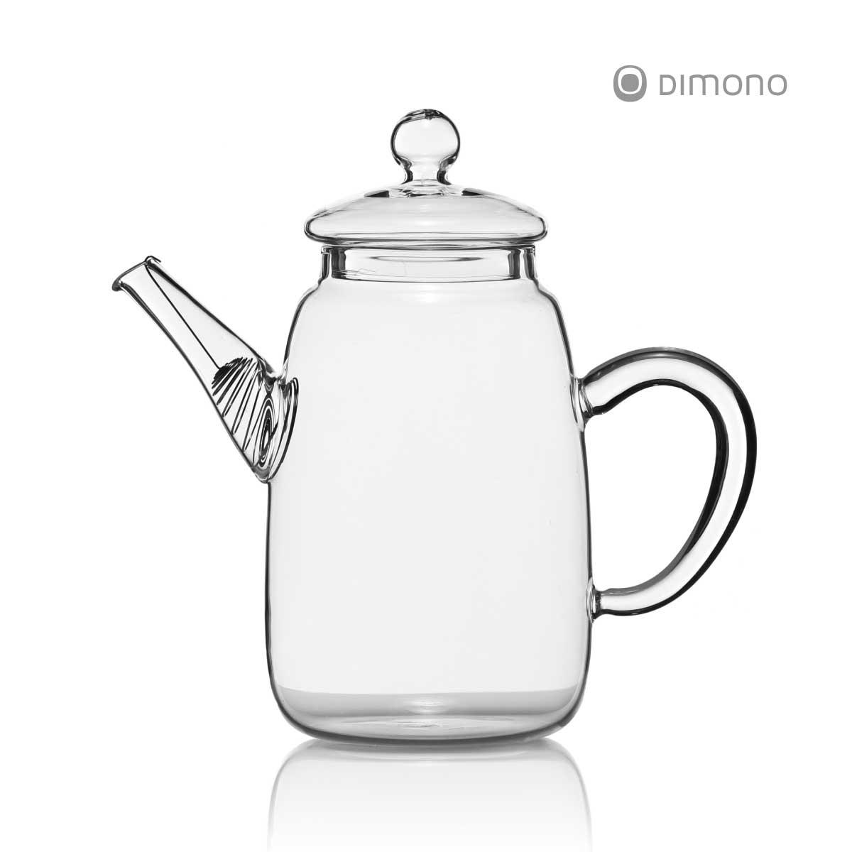 teekanne dimono aus borosilikat glas mit teesieb glaskanne teebereiter deckel ebay. Black Bedroom Furniture Sets. Home Design Ideas