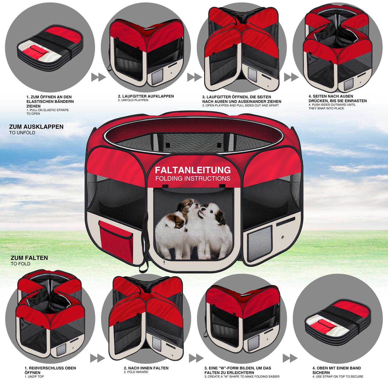 welpenlaufstall tierlaufstall hundeh tte h tte f r hunde hasen katzen kleintiere ebay. Black Bedroom Furniture Sets. Home Design Ideas