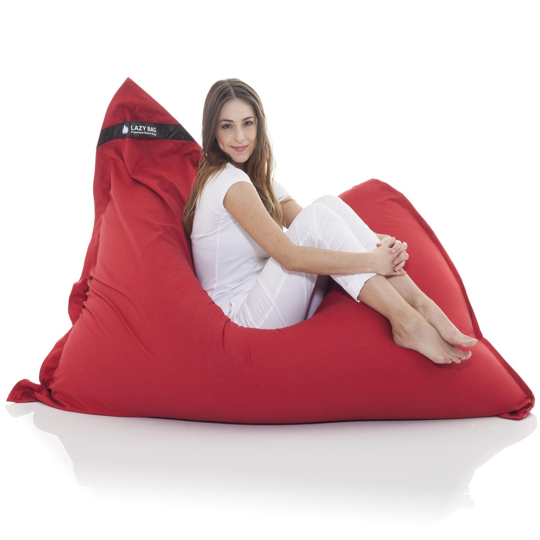 original lazybag sitzsack xxl 180x140cm aus baumwolle sitzkissen kindersitzsack ebay. Black Bedroom Furniture Sets. Home Design Ideas