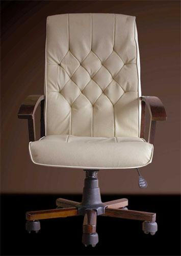 Bürostuhl weiß leder  Design Bürostuhl Chefsessel Creme-Weißes aus Leder weiß | eBay