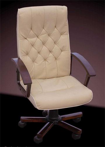 design b rostuhl chefsessel creme wei es aus leder wei ebay. Black Bedroom Furniture Sets. Home Design Ideas