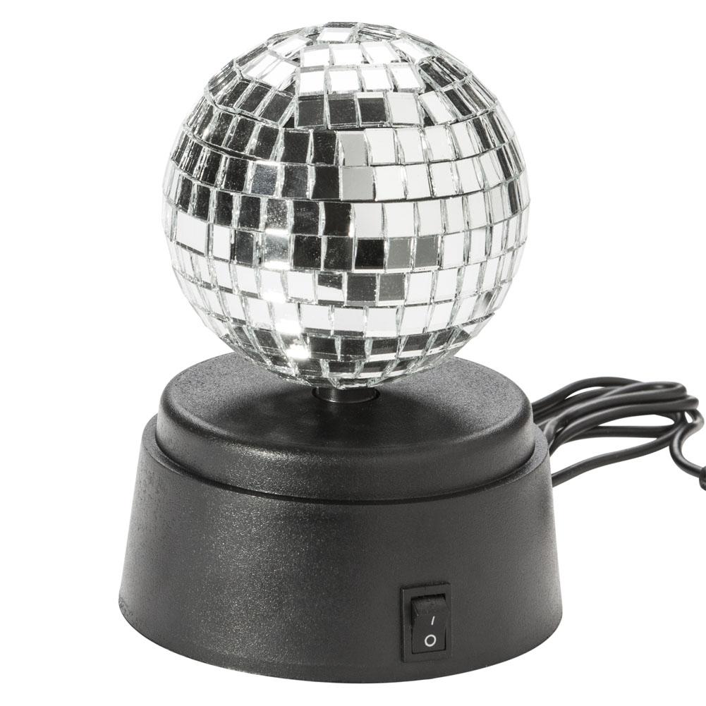 usb discokugel selbstdrehende spiegelkugel disco lampe. Black Bedroom Furniture Sets. Home Design Ideas