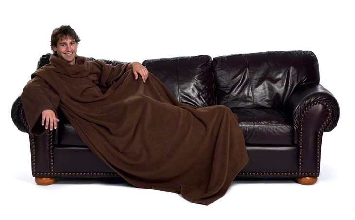 xxl snuggie blanket fleecedecke rmeldecke lounge decke. Black Bedroom Furniture Sets. Home Design Ideas