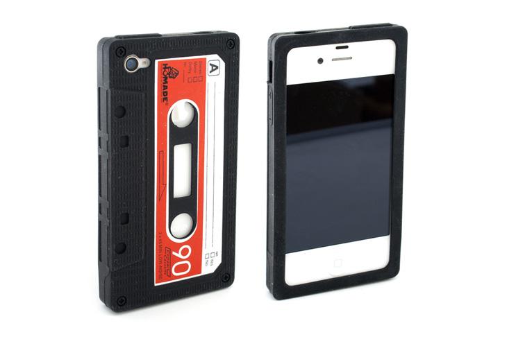 iphone 4 4s silikon h lle retro kassette kassettenh lle. Black Bedroom Furniture Sets. Home Design Ideas