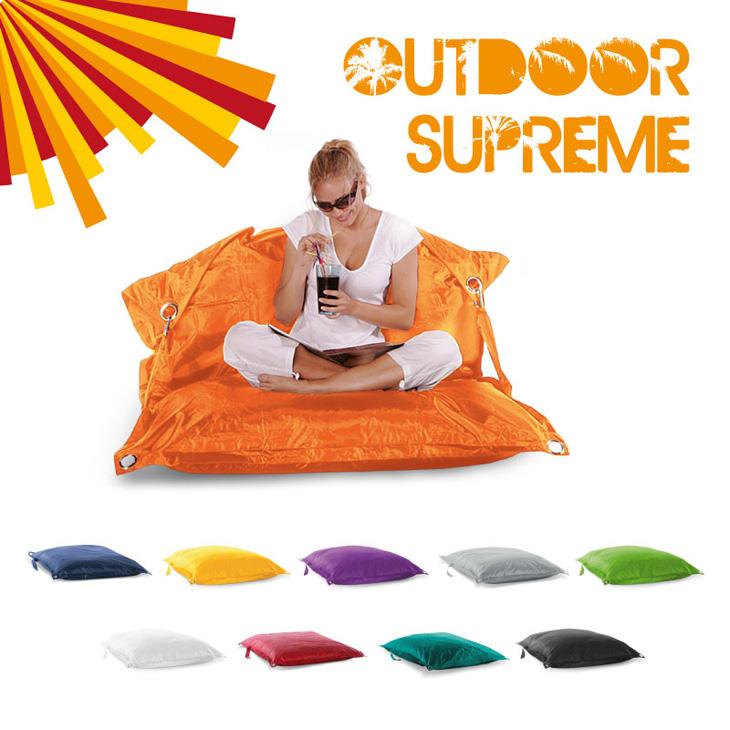 original smoothy outdoor supreme sitzsack sitzkissen wasserfest xxl farbwahl ebay. Black Bedroom Furniture Sets. Home Design Ideas