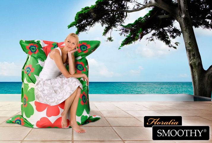 smoothy floralia xxl outdoor sitzkissen sitzsack 500l ebay. Black Bedroom Furniture Sets. Home Design Ideas