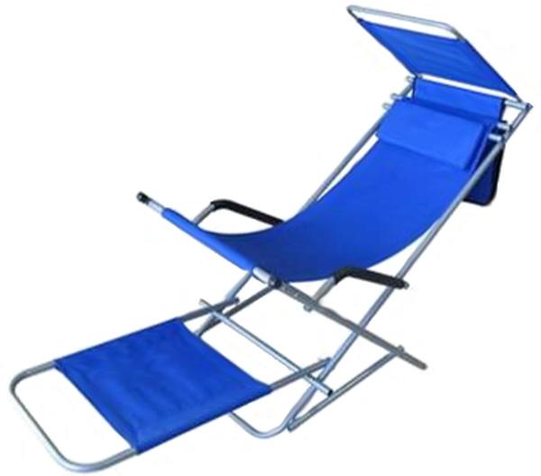 Bequemer campingstuhl mit sonnendach liegestuhl camping ebay - Liegestuhl camping ...