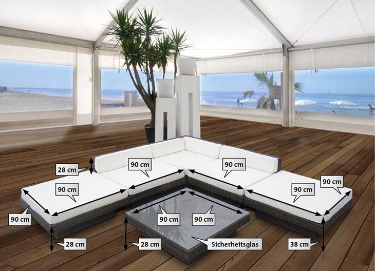 Rattanmöbel Design Outdoor Garten Möbel Lounge Garnitur ...