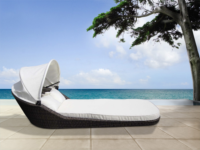 xxl sonneninsel sonnenliege strandkorb aus poly rattan polyrattan gartenm bel ebay. Black Bedroom Furniture Sets. Home Design Ideas