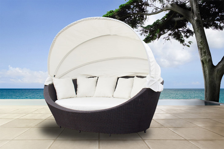 luxus sonneninsel liegeinsel gartenm bel strandkorb in poly rattan 220cm breit. Black Bedroom Furniture Sets. Home Design Ideas