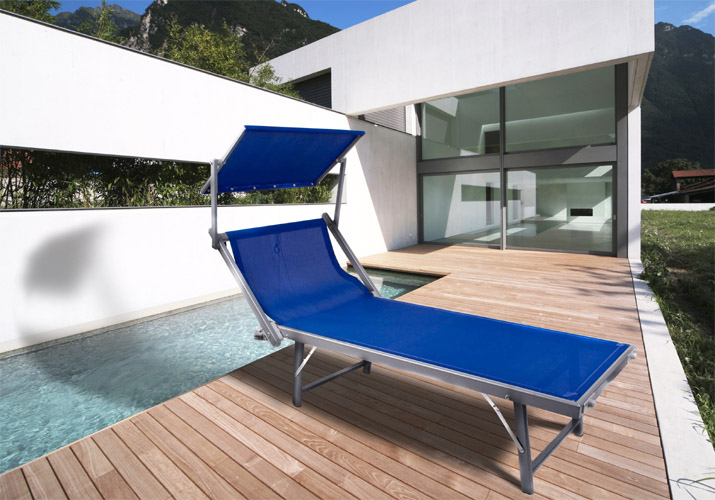 marken sonnenliege mit klappdach gartenliege relaxliege. Black Bedroom Furniture Sets. Home Design Ideas