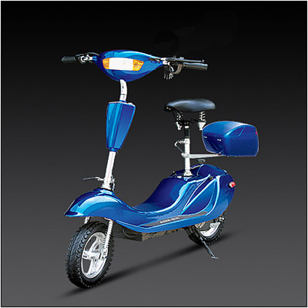 elektronischer roller e scooter moped elektroroller mit akku 350 watt ebay. Black Bedroom Furniture Sets. Home Design Ideas
