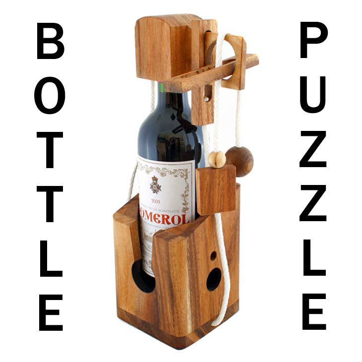 dont break the bottle patience game puzzle wooden gift for wine bottles. Black Bedroom Furniture Sets. Home Design Ideas