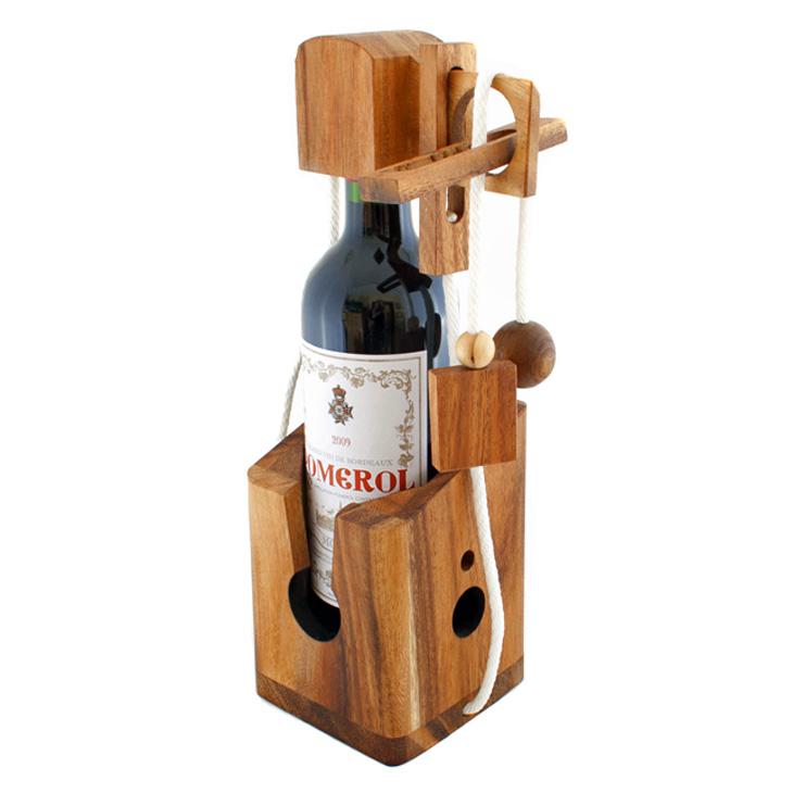 3d holz puzzle geschenk verpackung dont break the bottle. Black Bedroom Furniture Sets. Home Design Ideas