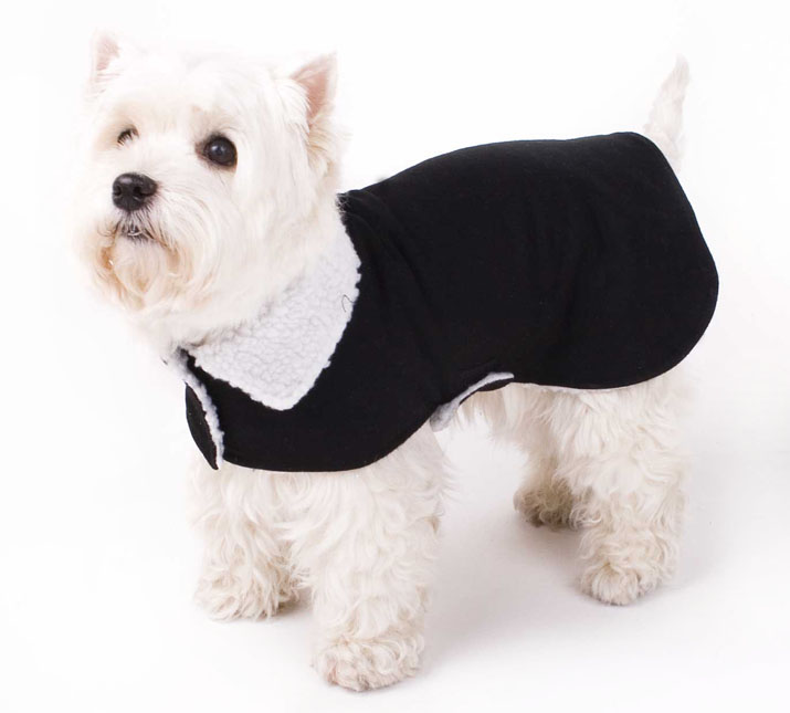 warmer fell hundemantel hundejacke mantel jacke f r hunde fellkragen xs s m l xl ebay. Black Bedroom Furniture Sets. Home Design Ideas