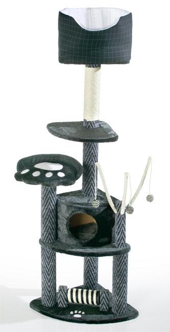 luxus katzen kratzbaum katzenkratzbaum katzenbaum nero ebay. Black Bedroom Furniture Sets. Home Design Ideas