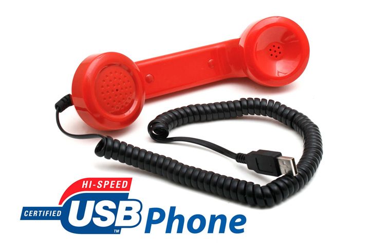 schnurgebundenes usb retro telefon skype telefonh rer voice over ip ebay. Black Bedroom Furniture Sets. Home Design Ideas