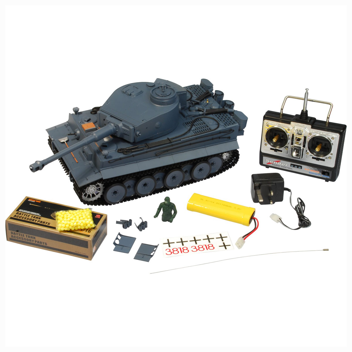 rc panzer modell r c deutscher tiger modellbau 1 16. Black Bedroom Furniture Sets. Home Design Ideas