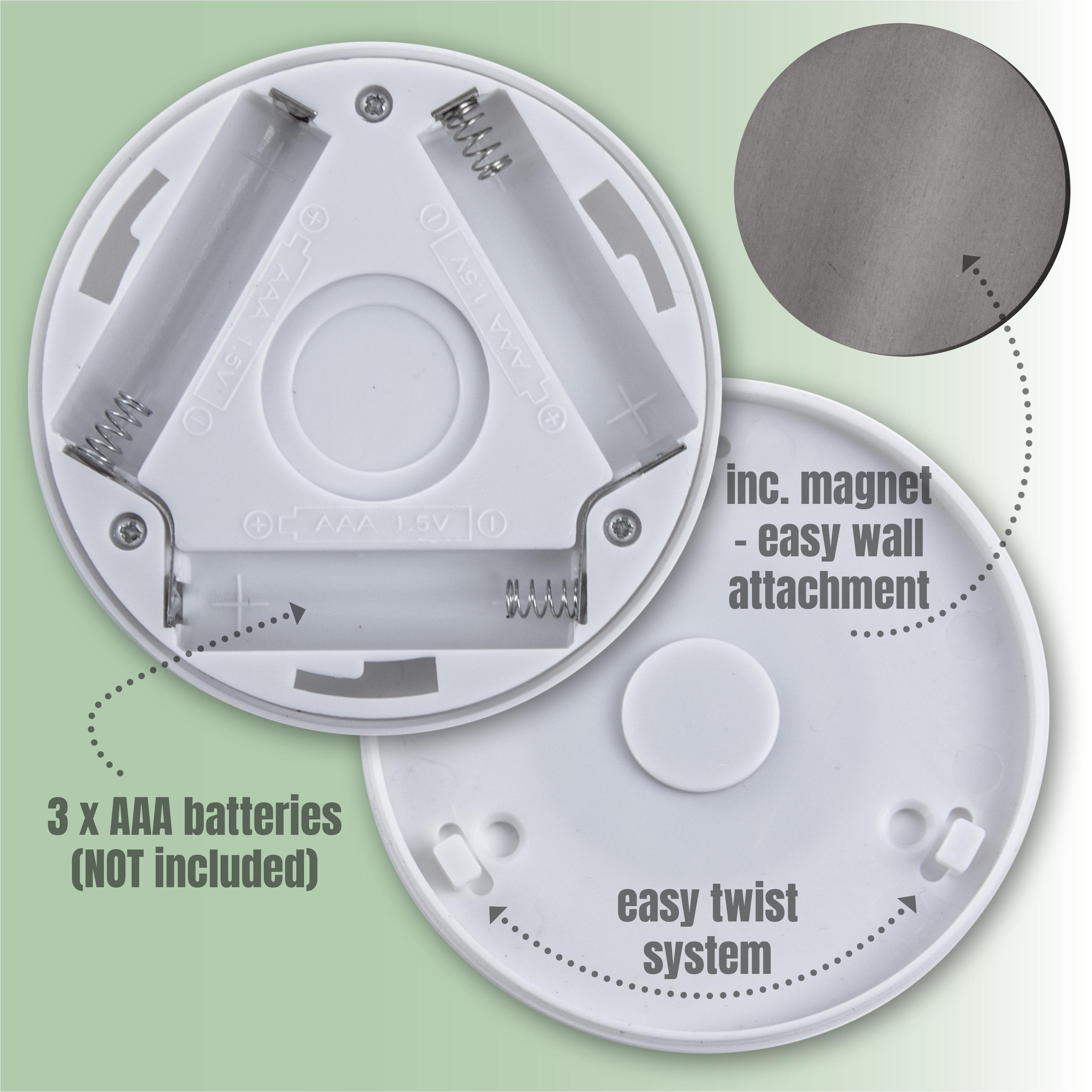 infrarot led nachtlicht wandlicht mobile klebbar mit. Black Bedroom Furniture Sets. Home Design Ideas