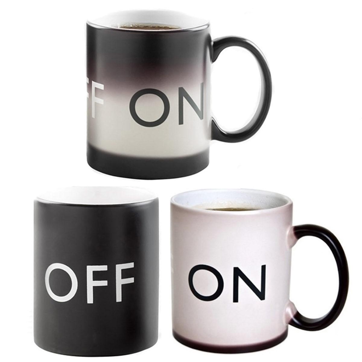 on off tasse thermo kaffeetasse kaffeebecher coffee mug