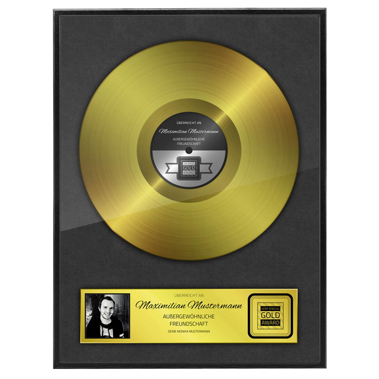 Persönliche Goldene Schallplatte Urkunde Rahmen - personalisiertes ...