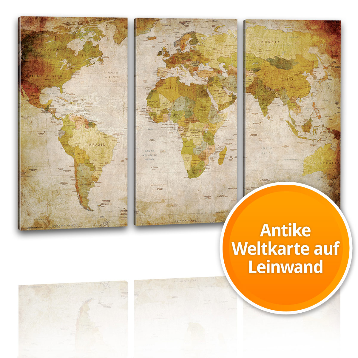 antike xxl weltkarte poster riesen landkarte retro vintage design wandbild deko ebay. Black Bedroom Furniture Sets. Home Design Ideas