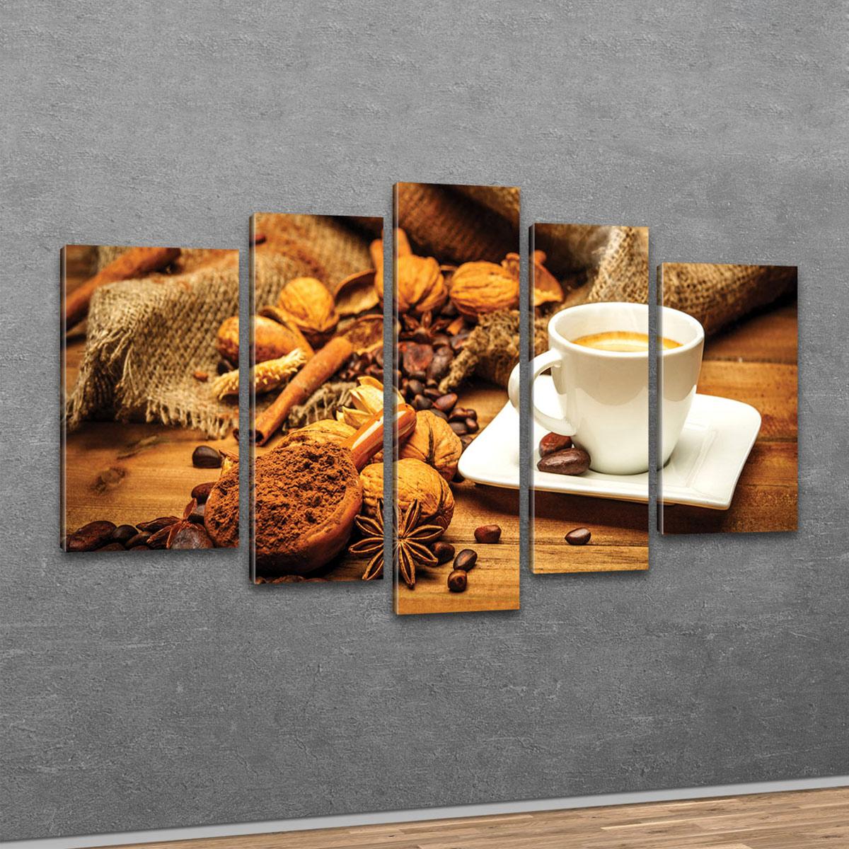 Top Bilder Kunstdruck auf Leinwand Poster Modern Design XXL Kaffee 80cm*80cm 091