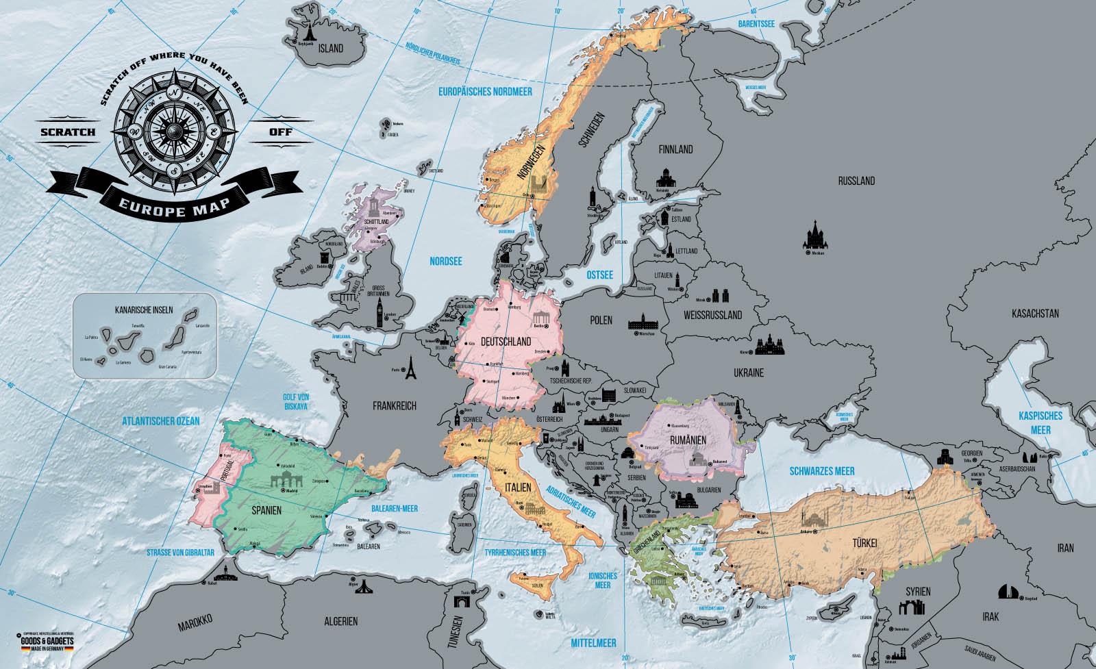 xxl rubbel europakarte scrape off europa map poster rubbel landkarte weltkarte ebay. Black Bedroom Furniture Sets. Home Design Ideas
