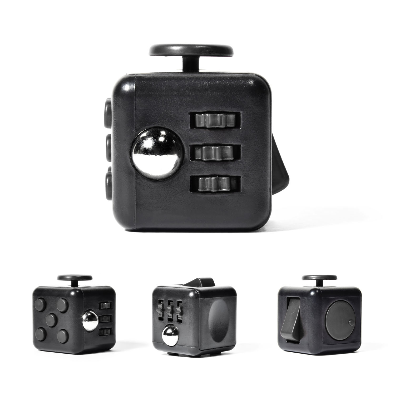 Fidget Cube Anti Stresswürfel Fidget Spinner Stress Würfel ADHS grau schwarz