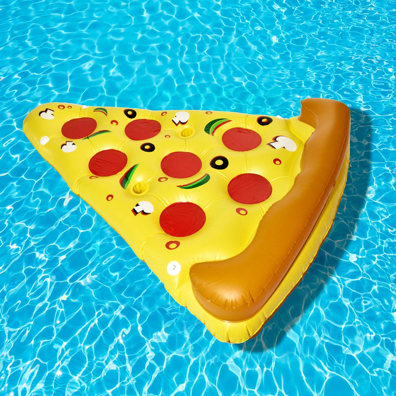 aufblasbarer pizza luftmatratze xxl pizzast ck badeinsel aufblasbar 180x140cm 4250410330624 ebay. Black Bedroom Furniture Sets. Home Design Ideas