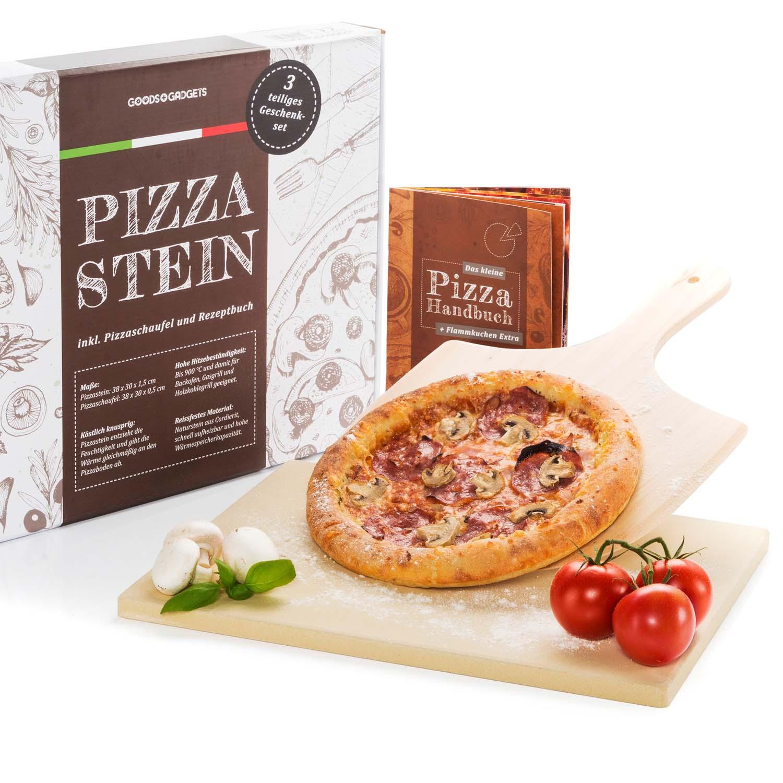 Pizzastein Set Deluxe Brotbackstein aus Cordierit + Pizzaschaufel& Rezeptbuch eBay ~ 01235330_Backstein Schamotte Aus Cordierit