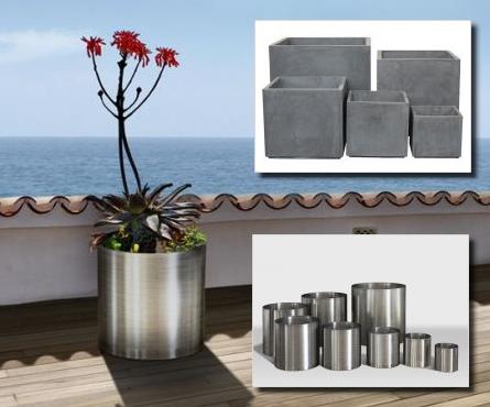 sch ne blument pfe aus edelstahl fiberglas blog f r gadgets und geschenke. Black Bedroom Furniture Sets. Home Design Ideas