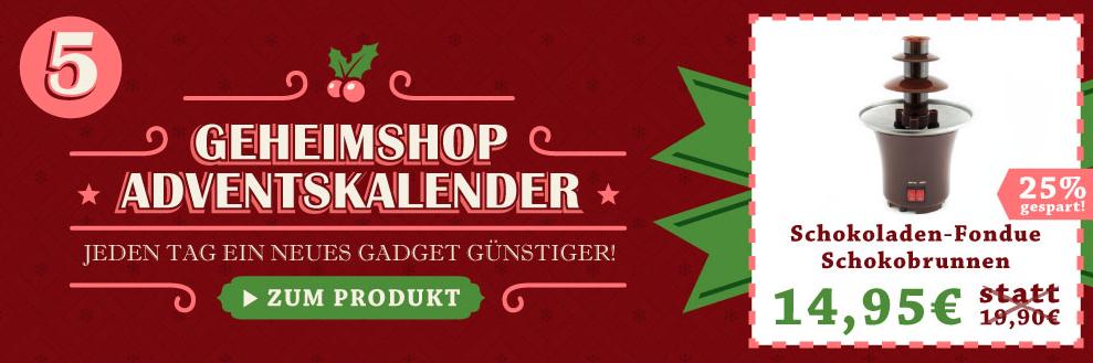 Geheimshop Adventskalender: Jeden Tag ein Gadget günstiger!