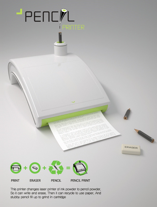 Bleistift_Drucker beim Druckvorgang