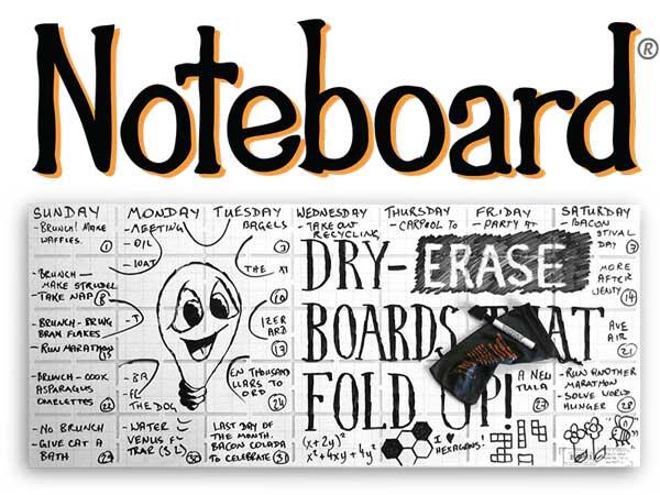 Noteboard beschriftet wie Tafel