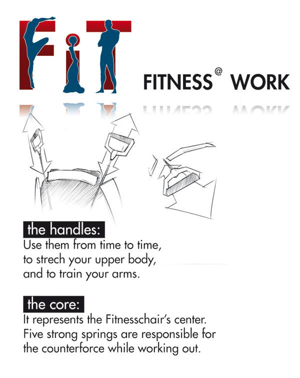 Fitness-Rodeo-Stuhl fürs Büro