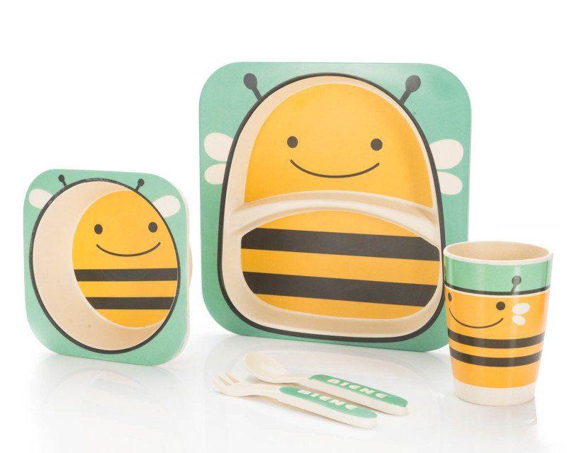 Bambus Kindergeschirr – niedliche Motive, praktisches Geschenk!