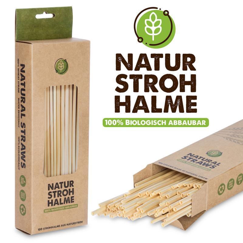 Natur Bio Strohhalme 100 Set