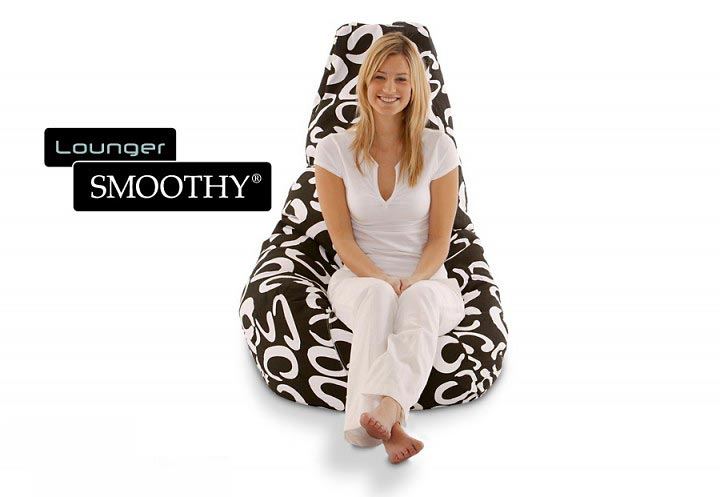 Smoothy Sitzsack Beany Lounge Chair Black