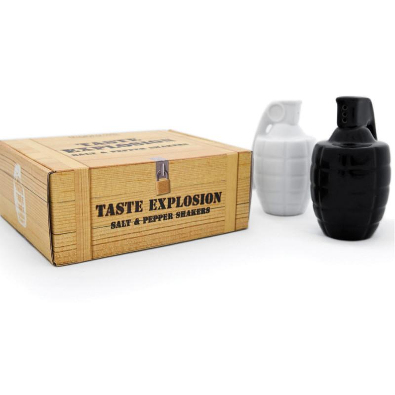 Taste Explosion Salzstreuer und Pfefferstreuer HandgranatenHandgranaten Salz- und Pfefferstreuer