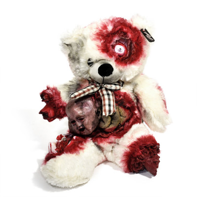Zombie Teddybär - Fashion Teddy Bear mit Alien Geburt