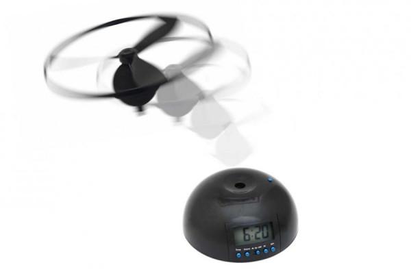 Fliegender Wecker mit Ufo-Hubschrauber