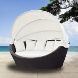 Sonnenliege - Sonneninsel Lounge aus Polyrattan - Geheimshop.de