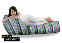 Smoothy Sitzsack Lounge Daybed Blue Stripes